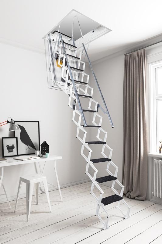 Photo of a Fantozzi electric concertina attic ladder
