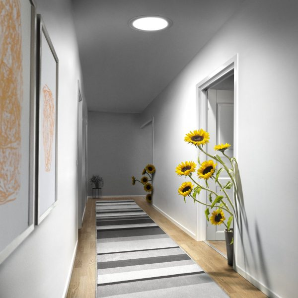 Photo of the VELUX Flexible Sun Tunnel in a hallway
